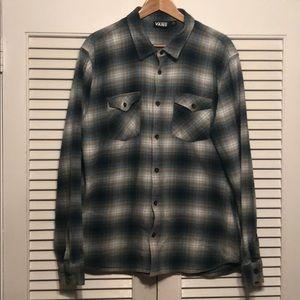 Vans 100% Cotton Casual Button Down Flannel Shirt.